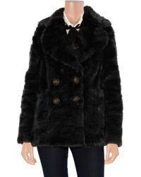 Juicy Couture | Black Faux Fur Coat | Lyst