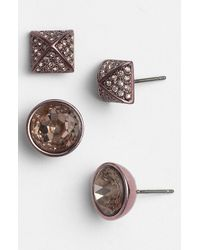 Juicy Couture | Pink Glam Rocks Stud Earrings Set Of 2 | Lyst