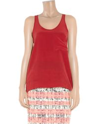 Kain Red Classic Washedsilk Tank