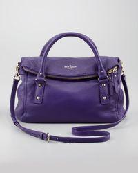 kate spade new york Purple Cobble Hill Leslie Small Satchel Bag Dk African Violet