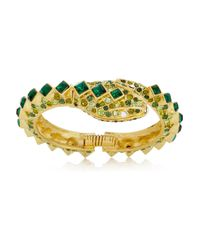 Kenneth Jay Lane Metallic 22karat Goldplated Crystal Snake Bracelet