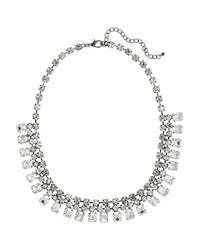 Kenneth Jay Lane | Metallic Crystal Necklace | Lyst