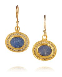 Kevia | Metallic Gold-Plated Crystal and Stone Earrings | Lyst