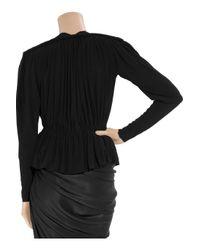 Lanvin Black Ruched Stretch-crepe Jacket