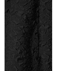 Lanvin - Black Overlay Draped Evening Dress - Lyst