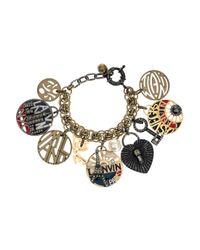 Lanvin - Metallic Swarovski Crystal Charm Bracelet - Lyst