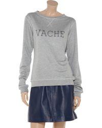 Lot78 Gray Printed French Terry Sweatshirt
