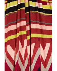 M Missoni Red Printed Jersey Jumpsuit