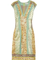 Matthew Williamson | Multicolor Paneled Brocade Dress | Lyst