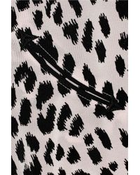 McQ Pink Rockabilly Printed Silkcrepe Top