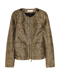 MICHAEL Michael Kors | Metallic Silkblend Tweed Jacket | Lyst