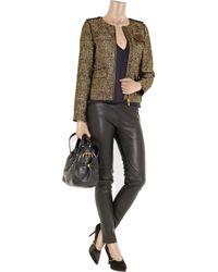 MICHAEL Michael Kors - Metallic Silkblend Tweed Jacket - Lyst