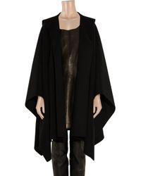 Michael Kors - Black Hooded Wool Poncho - Lyst