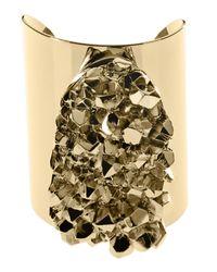 Michael Kors Metallic Nugget Cuff Bracelet Golden
