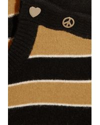 Mulberry - Black Peace & Love wool and angora-blend sweater - Lyst