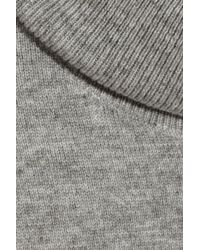 N.Peal Cashmere Gray Cashmere Turtleneck Sweater