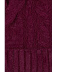 N.Peal Cashmere Red Cashmere Beanie