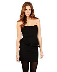 Oasis Oasis Bandeau Scuba Dress Black