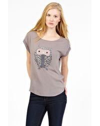 Oasis Gray Twinkle Owl Tee