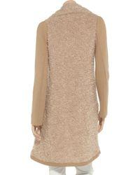 Philosophy di Alberta Ferretti Natural Knitted Jacket