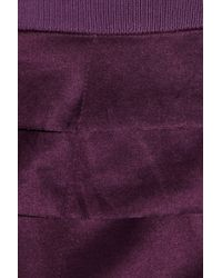 Ports 1961 Purple Tiered Silk and Cotton blend Skirt
