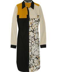 Proenza Schouler | Black Block-print Shirt Dress | Lyst