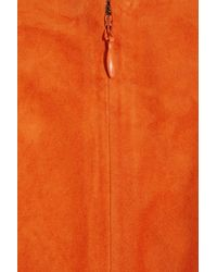 Ralph Lauren Collection - Orange Shiloh Suede Dress - Lyst