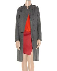Reed Krakoff Gray Wool Blend Trench Coat