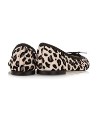 Repetto - Multicolor Bb Animal-Print Leather Ballet Flats - Lyst