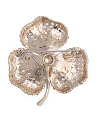 Sonia Rykiel Orange Crystalembellished Flower Brooch
