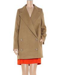 Stella McCartney Natural Edith Camel Wool Coat