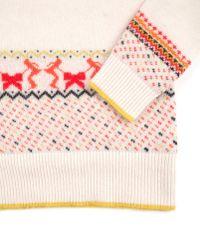 Ted Baker Natural Ted Baker Vania Fairisle Collar Knitted Jumper Beige