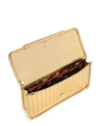 Ted Baker Metallic Mettar Mirrored Quilted Clutch