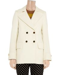 The Row Natural Fantene Double Breasted Wool Coat