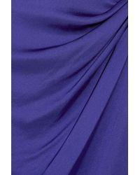 Theory - Purple Playara Draped Silk-satin Dress - Lyst