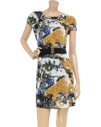 Tory Burch - Multicolor Pleated Paisley Print Dress - Lyst
