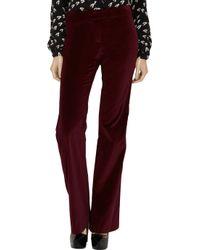 Tory Burch Purple Hagette Velvet Flared Pants