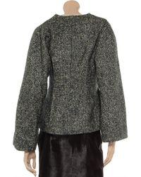 Vanessa Bruno Gray Bouclé Wool and Mohair-blend Jacket