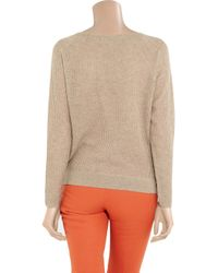 Vanessa Bruno Natural Fine-knit Cashmere and Wool-blend Sweater