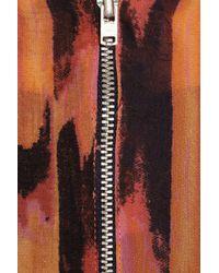 W118 by Walter Baker Orange Peggy Printed Chiffon Peplum Dress