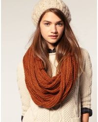 ASOS Collection | Brown Asos Loose Rib Knitted Snood | Lyst