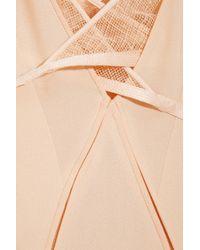 Calvin Klein - Natural Karios Tulletrimmed Silkcrepe Gown - Lyst