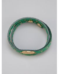 Fendi Green Selleria Bracelet