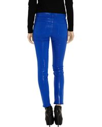 J Brand Blue 811 Mid-rise Cropped Waxed Skinny Jeans