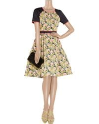 Jason Wu Multicolor Printed Dress with Solid Sleeves