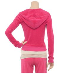 Juicy Couture - Red Basic Terry Long Sleeve Zip Track Jacket - Lyst