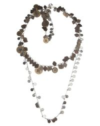 Lanvin - Metallic Double Coin Chain Necklace - Lyst