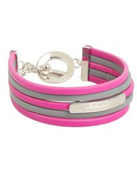Marc By Marc Jacobs - Gray Multi Leather Toggle Bracelet - Lyst