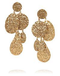 Oscar de la Renta - Metallic Hammered 24karat Gold Plated Clip Earrings - Lyst