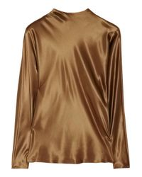Ralph Lauren Collection | Metallic Davidson silk-satin top | Lyst